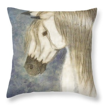 Beauty And Strength1 Throw Pillow by Debbie Portwood