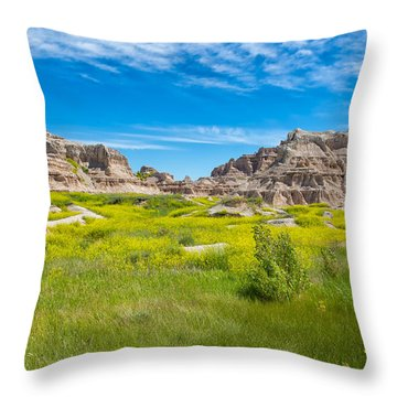 Throw Pillow featuring the photograph Beauty And The Badlands by John M Bailey