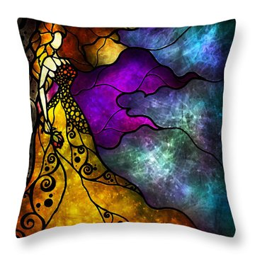 Beauty And The Beast Throw Pillow by Mandie Manzano