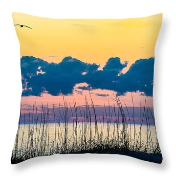 Beauty And The Birds Throw Pillow
