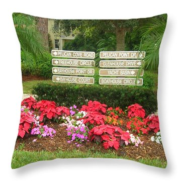 Beauty At Pelican Cove Throw Pillow