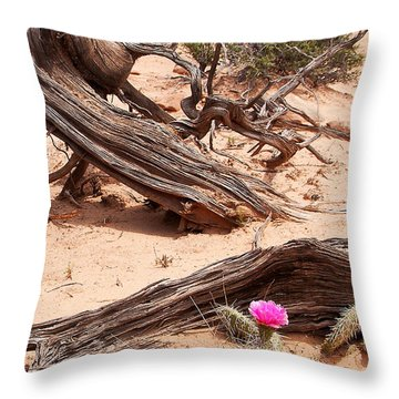 Beauty Blooming Throw Pillow