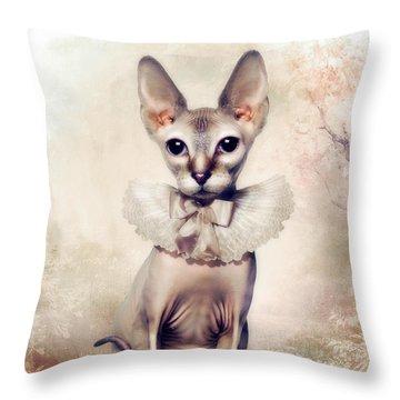Beauty Throw Pillow by Cindy Grundsten