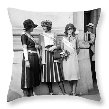 Beauty Contestants, C1921 Throw Pillow