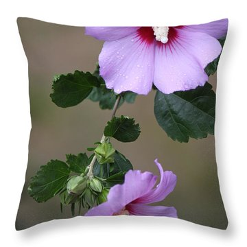 Beauty Doubles Throw Pillow
