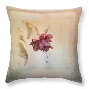 Beauty Fades Softly Framed Throw Pillow