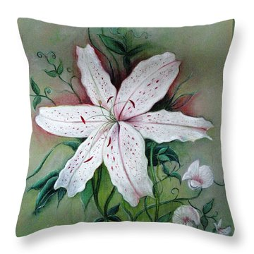 Throw Pillow featuring the painting Beauty For Ashes by Hazel Holland