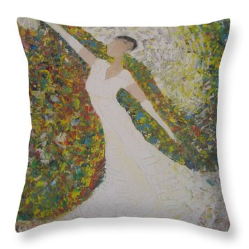 Beauty For Ashes Throw Pillow by Rachael Pragnell
