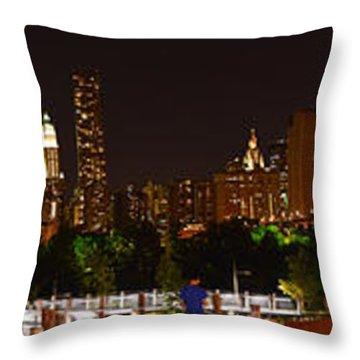 Beauty From Brooklyn Bridge Park Throw Pillow
