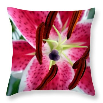 Throw Pillow featuring the photograph Beauty From The Inside Out by Zafer Gurel