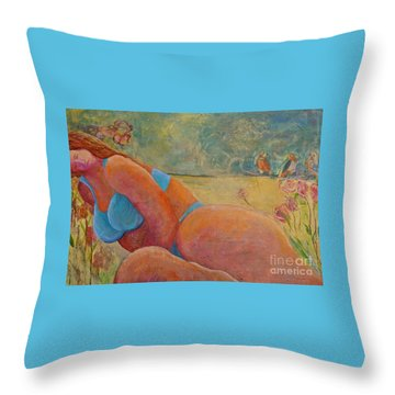 Beauty Throw Pillow by Gail Butters Cohen