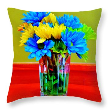 Beauty In A Vase Throw Pillow