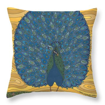 Beauty In Blue And Green Throw Pillow