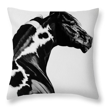 Beauty In Paint Horses Throw Pillow by Cheryl Poland