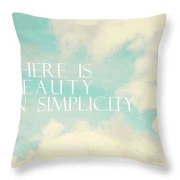 Throw Pillow featuring the photograph Beauty In Simplicity by Sylvia Cook