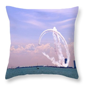 Beauty In The Air Throw Pillow