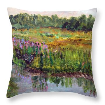 Beauty In The Bog Throw Pillow