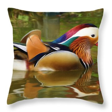 Beauty In The Pond Throw Pillow by Ayse Deniz