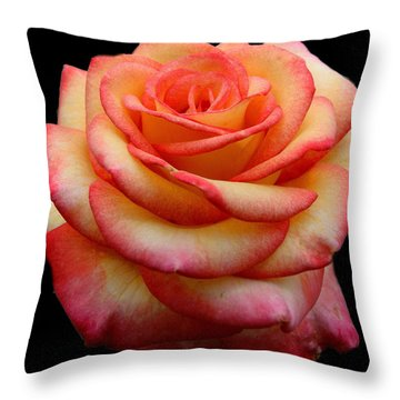 Beauty In The Rose Garden Throw Pillow by Myrna Bradshaw