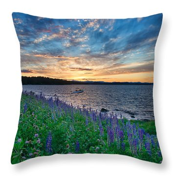 Beauty In The Sky Throw Pillow
