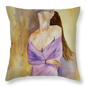 Beauty In Thought Throw Pillow by Vicki  Housel