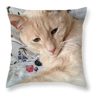 Beauty Throw Pillow by Kim Prowse