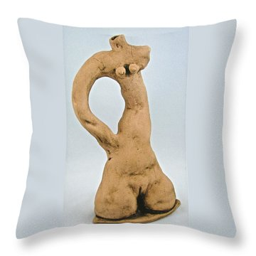 Beauty Must Pose For Us Throw Pillow by Mario Perron