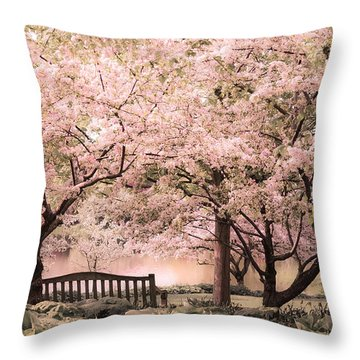 Beauty Of A Spring Garden Throw Pillow by Julie Palencia