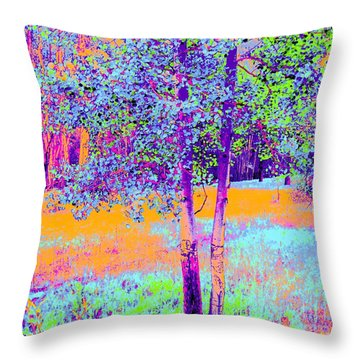 Beauty Of An Aspen Grove Throw Pillow by Ann Johndro-Collins