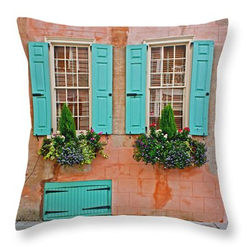 Throw Pillow featuring the photograph Beauty Of Charleston by Jean Haynes