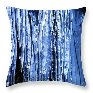Beauty Of Ice Throw Pillow