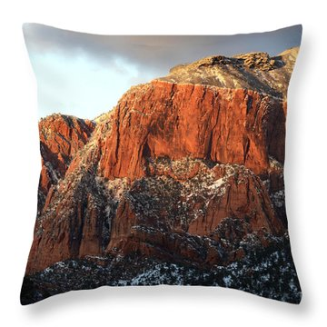 Beauty Of Kolob Canyon  Throw Pillow by Bob Christopher