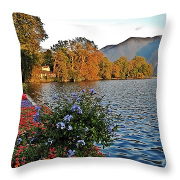 Beauty Of Lake Lugano Throw Pillow