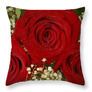 Beauty Of Roses Throw Pillow by Inspired Nature Photography Fine Art Photography
