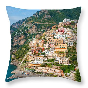 Beauty Of The Positano Throw Pillow