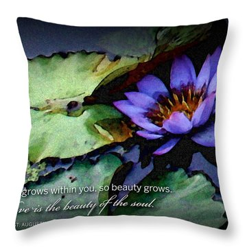 Beauty Of The Soul Throw Pillow