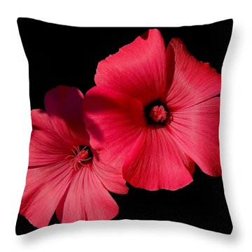 Beauty On The Black #1 Throw Pillow
