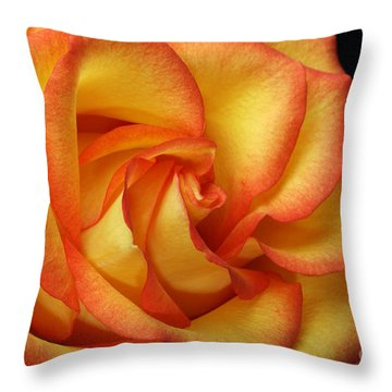 Throw Pillow featuring the photograph Beauty Unfolds by Judy Whitton