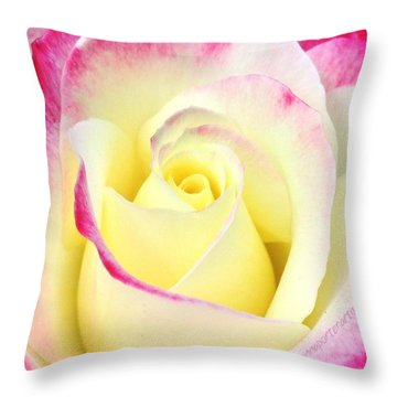 Beauty Unfurled Throw Pillow