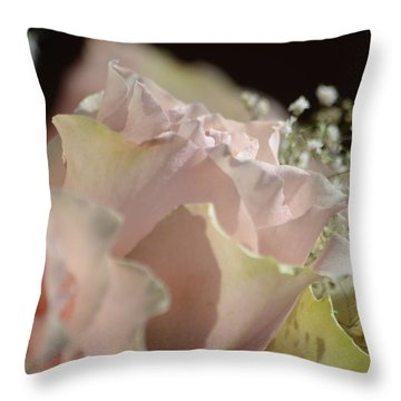Beauty Up Close Throw Pillow