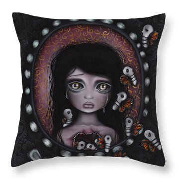 Beauty Within Me Throw Pillow by  Abril Andrade Griffith