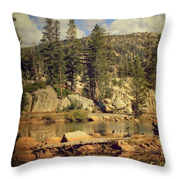 Beauty You Find Along The Way Throw Pillow by Laurie Search