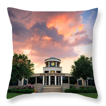 Beaver County Courthouse Throw Pillow
