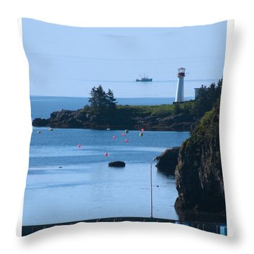 Beaver Harbour Nb Canada Throw Pillow