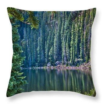 Beaver Lake  Throw Pillow