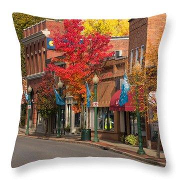 Beaver St  Sewickley Throw Pillow