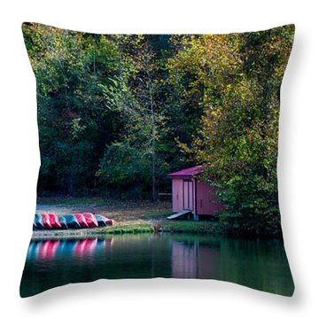 Beavers Bend Reflection Throw Pillow