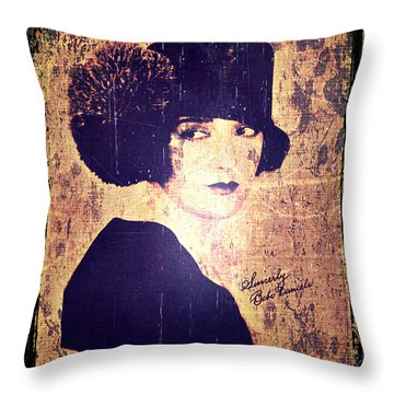 Bebe Daniels - 1920s Actress Throw Pillow by Absinthe Art By Michelle LeAnn Scott