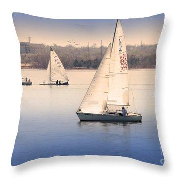 Becalmed Throw Pillow by Betty LaRue