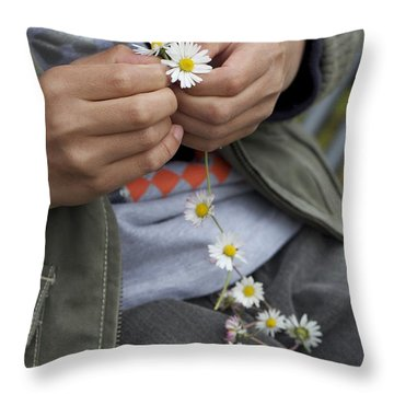 Throw Pillow featuring the photograph Because I Love Her 1 by Colleen Williams